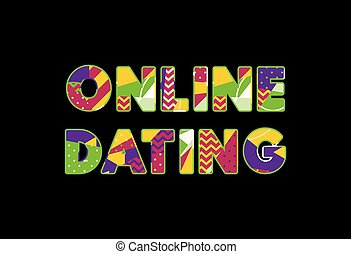 Online Dating Concept Word Art Illustration