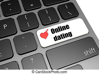 Online dating - Hi-res original 3d-rendered computer ...