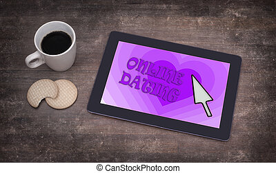 Online dating on a tablet