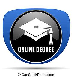 Online degree web icon