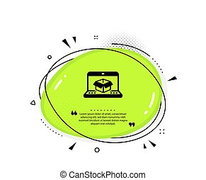 Online delivery icon. Parcel tracking sign. Vector - Online ...