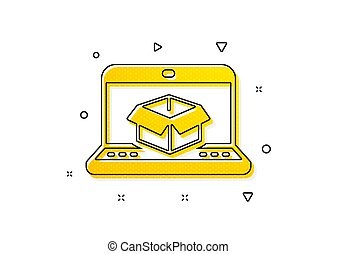 Online delivery icon. Parcel tracking sign. Vector - Parcel ...