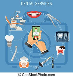 Online dentistry concept
