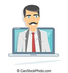 Online doctor. Medical consultation and support.