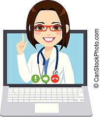 Online Doctor Woman