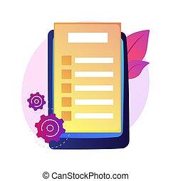 Online document form vector concept metaphor