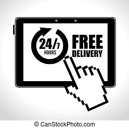 online e-commerce delivery service 24-7 design