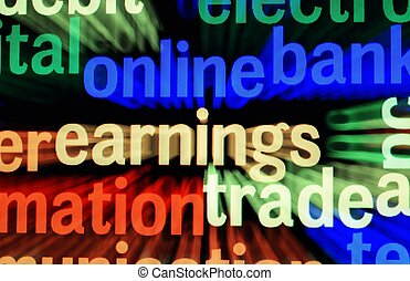 Online earnings trade