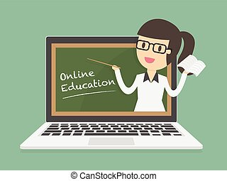 online, education.