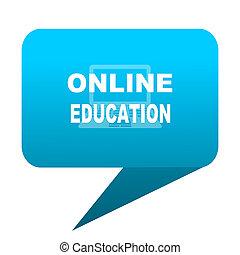 online education blue bubble icon