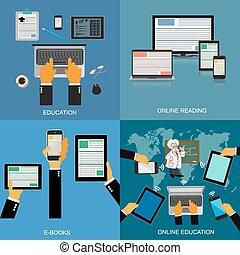 online education - education, online reading, eBooks, online...