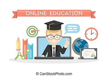 Online education concept.