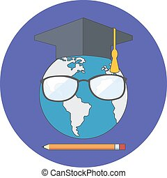Online education concept. Flat design.