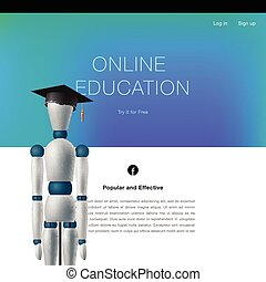 Online education concept template
