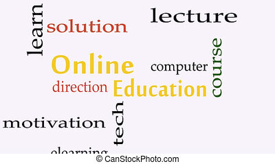 Online Education concept word cloud background