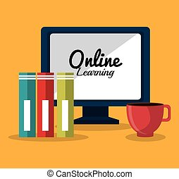 Online education elearning design, vector illustration graphic