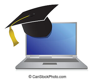 online education graduation concept