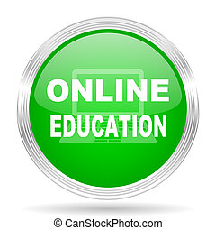 online education green modern design web glossy icon