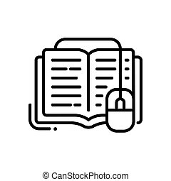 Online education - modern vector single line icon. An image...