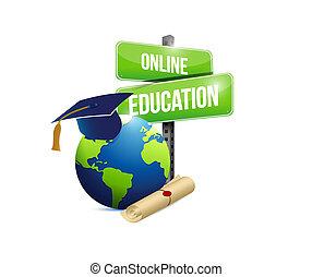 online education network concept illustration design graphic