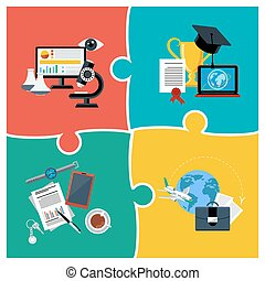 Online education, science and business