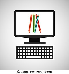 online education technology drawing colors