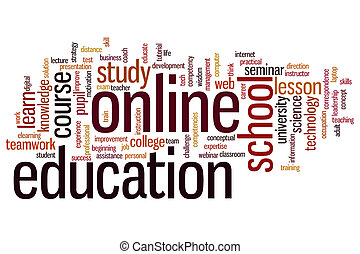 Online education word cloud - Online education concept word...