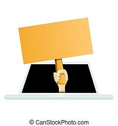 Online Empty Sign