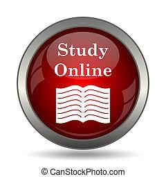 online, estudo, ícone