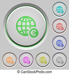 Online Euro payment push buttons