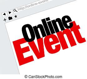 Online Event Website Words Internet Digital Meeting Show -...