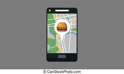 Online fast food delivery HD animation - Online fast food...