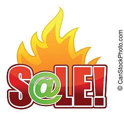 online Fire Sale text illustration