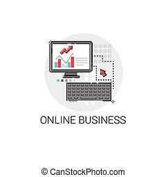 online, firma, analyse, computer, finans, diagram, digitale,...