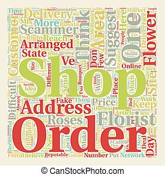 Online Flower Concerns text background wordcloud concept