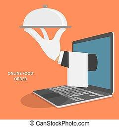 Online Food Delivery Concept Illustration. - Online Food...
