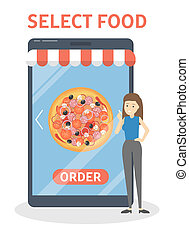 Online food order in the app process