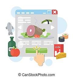 Online food order.