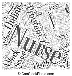 Online Forensic Nursing Program Word Cloud Concept