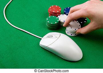Online Gambling - An online gambling concept - computer...