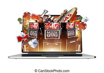 Online Gambling on Laptop