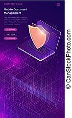 online, garantie, datensicherheit, schutz, begriff