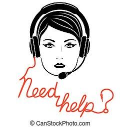 Online help center concept