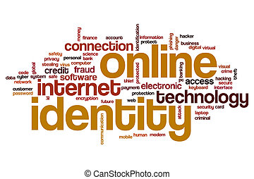 Online identity word cloud