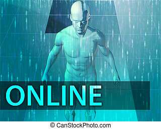 online, ilustração
