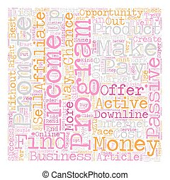 Online Income Strategy What kind of Opportunity should you choose text background wordcloud concept