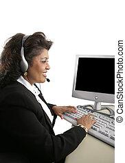 online, indianin, kobieta