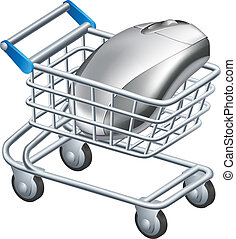 Online internet shopping concept