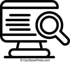 Online job search icon, outline style
