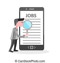 Online job Search on mobile phone i